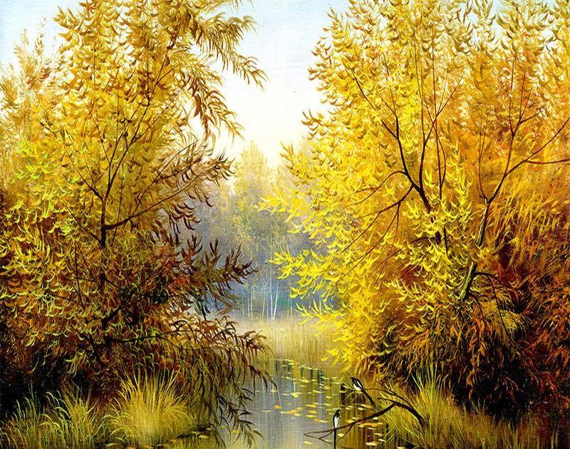 23 Lukisan Pemandangan Alam Klasik Eropa Us 8 57 55 Off Gaya Eropa Pemandangan Alam Kuning Hutan 3d Lukisan Dinding Wallpa Di 2020 Pemandangan Latar Belakang Klasik