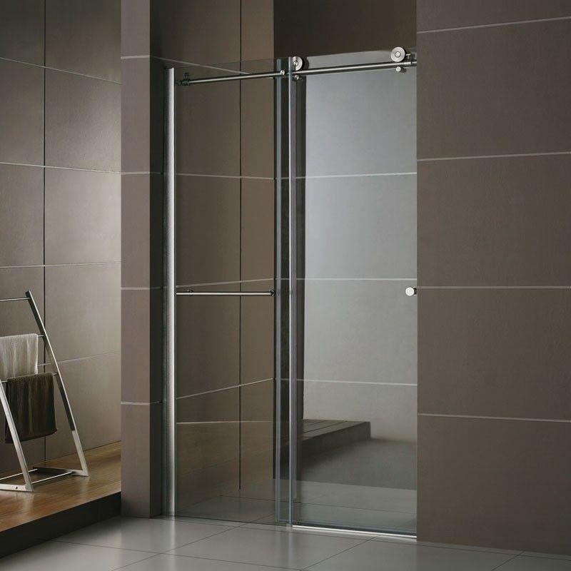Porte de douche coulissante rolling 120 160 cm portes - Porte coulissante salle de bains ...