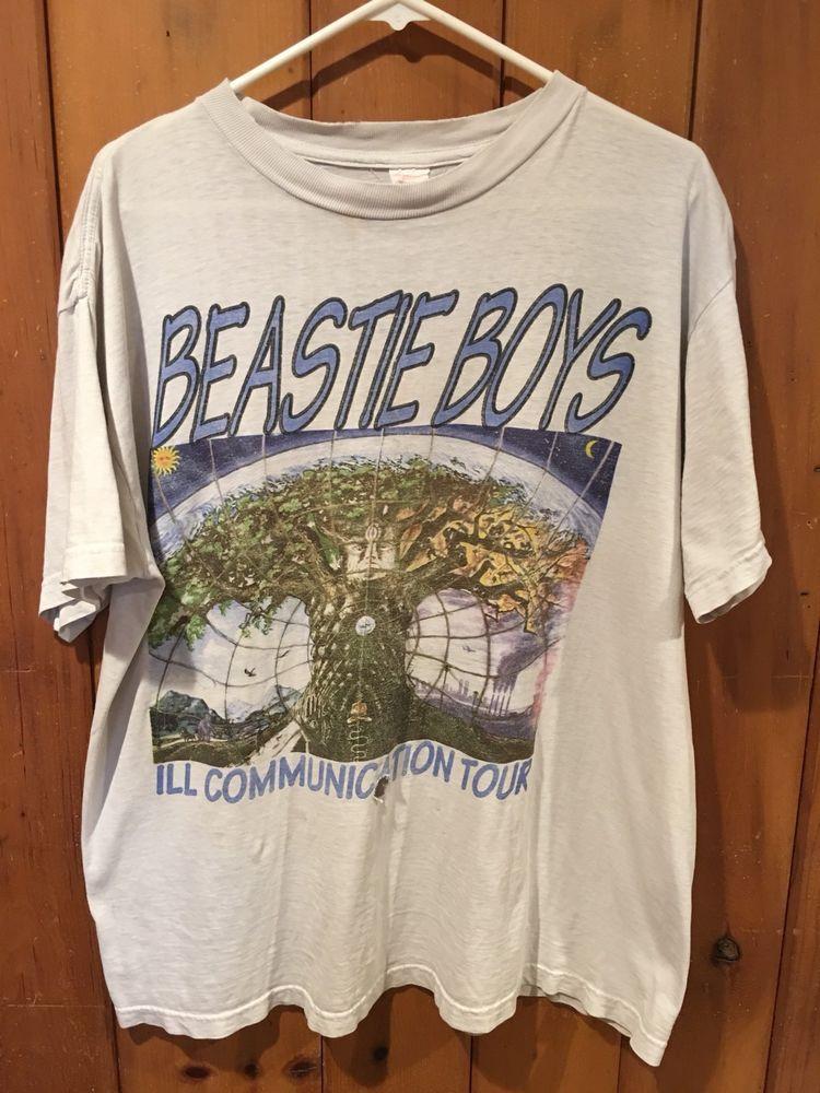 42ea4a42204 Vintage Beastie Boys 1995 Ill Communication Tour Men s L Shirt 90s Hip Hop  RARE  Unbranded  GraphicTee