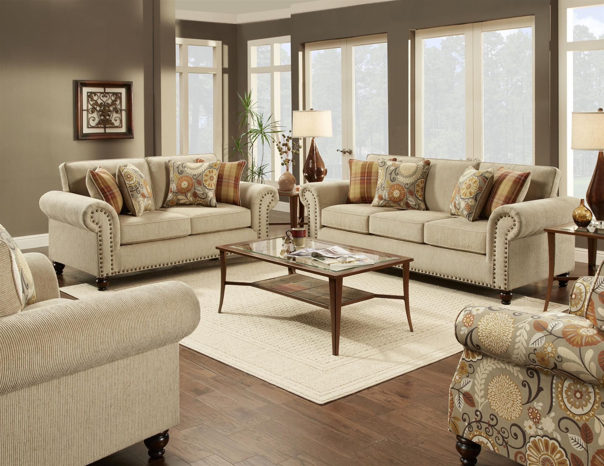 3110 Stationary Living Room Group By Fusion Furniture