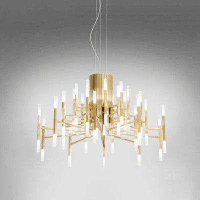Goedkope Zwart/wit/goud kroonluchter 24/36/60 lichten art designer ...