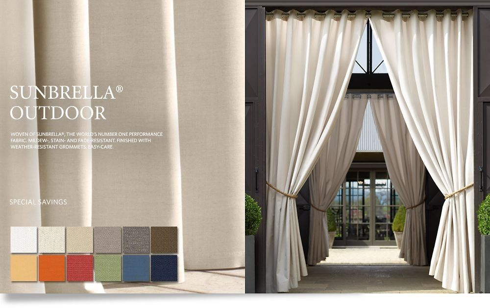 restoration hardware outdoor drapery the great outdoors