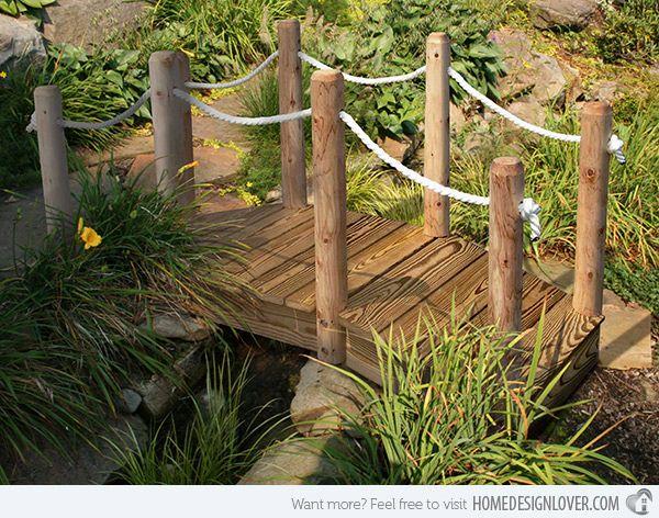 15 Whimsical Wooden Garden Bridges, Diy Garden Pond Bridge