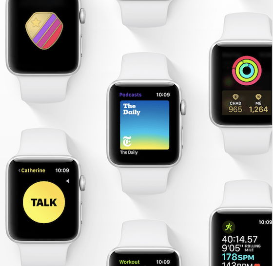 Apple Announces watchOS 5 with Competitions, WalkieTalkie