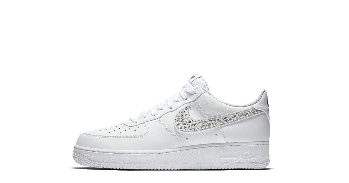 Nike Air Force 1 LV8 White Just Do It | Nike air, Nike air