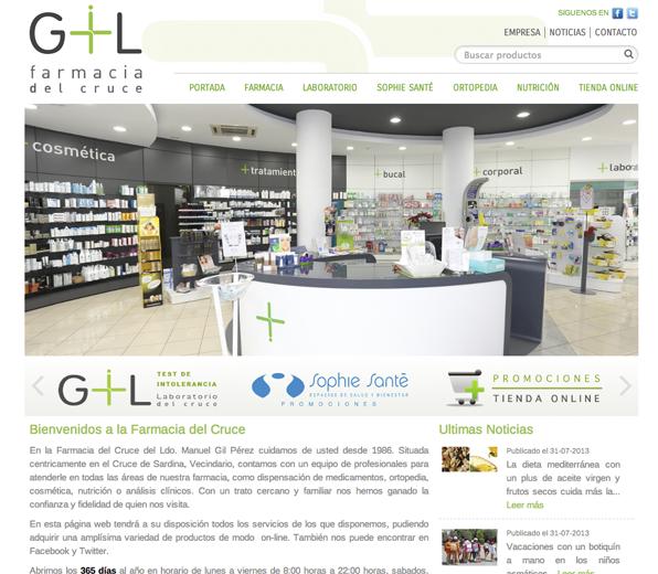 Farmaciaelcruce.com Desarrollo de la página web con sistema responsivo. #web_design #web #paginas_web #web_las_palmas #web_canarias #paginas_web_las_palmas #paginas_web_canarias