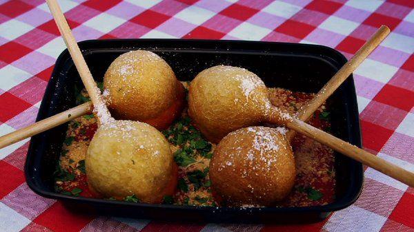 The Chew | Recipe  | Mangia Mangia's Meatball Lollipop