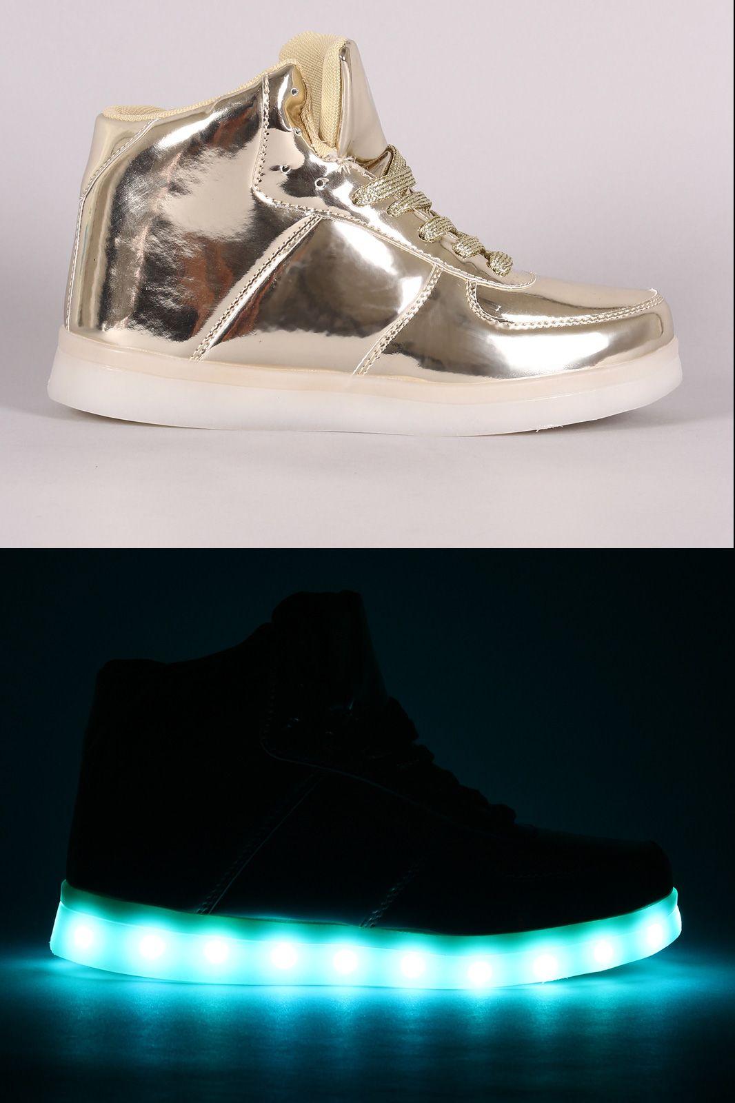 7 Color LED Light Lace Up Sneaker | UrbanOG