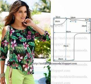 1a24e77bb44 Moldes para hacer blusas bonitas para dama … | Ropa | Patro…
