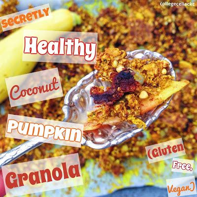 Secretly Healthy Coconut Pumpkin Granola (Gluten Free, Vegan)