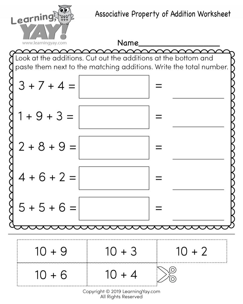 Properties Of Addition Worksheet Grade 1 Kelas Tk Matematika
