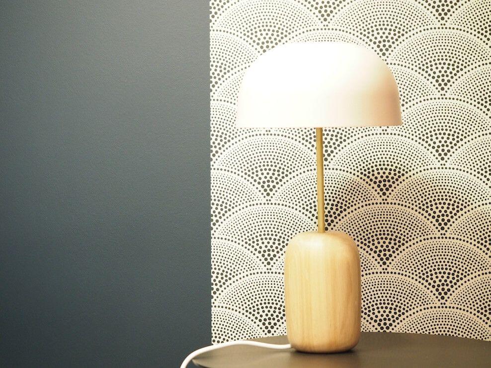 papier peint feather fan de cole and son boutique hyggelig lyon papier peint noir. Black Bedroom Furniture Sets. Home Design Ideas