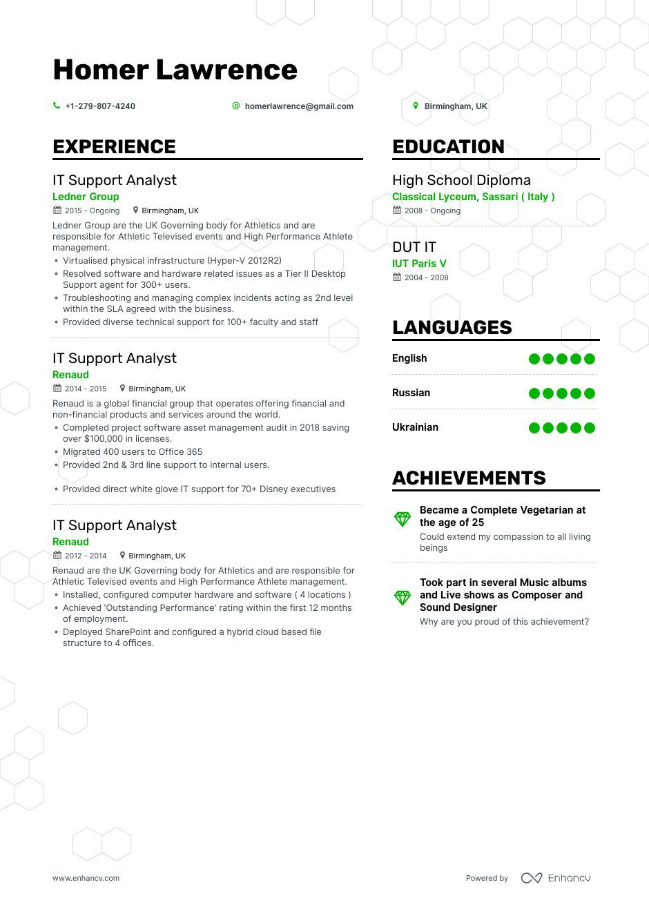 Top It Support Analyst Resume Examples & Samples for 2020