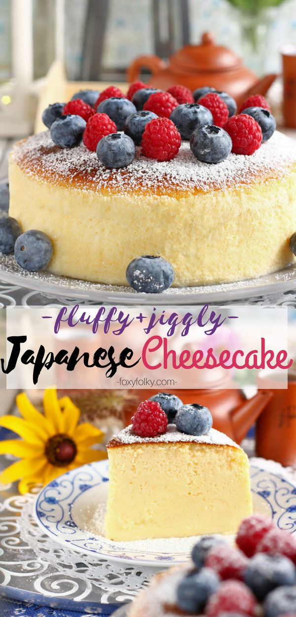 Easy Japanese Cheesecake Recipe - so fluffy and jiggly!   Foxy Folksy
