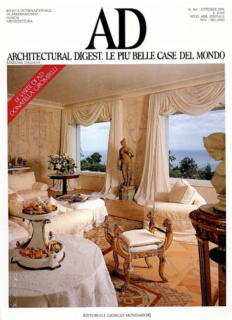 Decorative wall painting of Karin Linder in Architectural Digest. Third Ad Page One of Karin Linder decorative painter