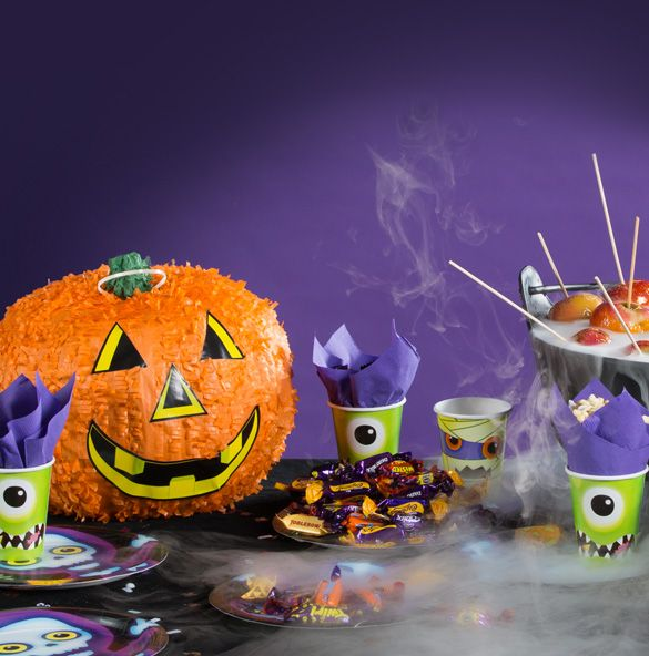 Choose deep purples and bright oranges for a fun Halloween party scheme. Don't forget to use some spiders and skeletons to make sure your home is suitably spooky this Halloween