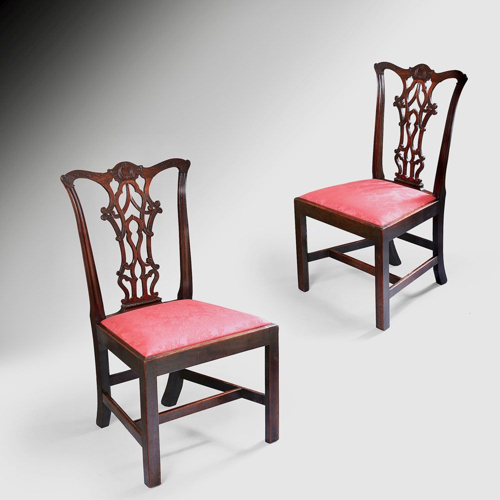 Pair of iii mahogany chairs furniture