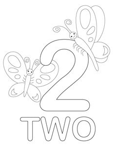 Number Coloring Pages Ingilizce Sayılar Numbers Preschool
