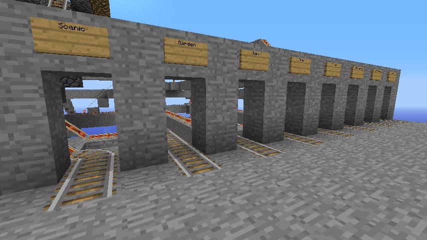 Minecart Tracks Multiple Destinations Minecraft Architecture Minecraft Houses Minecraft Designs