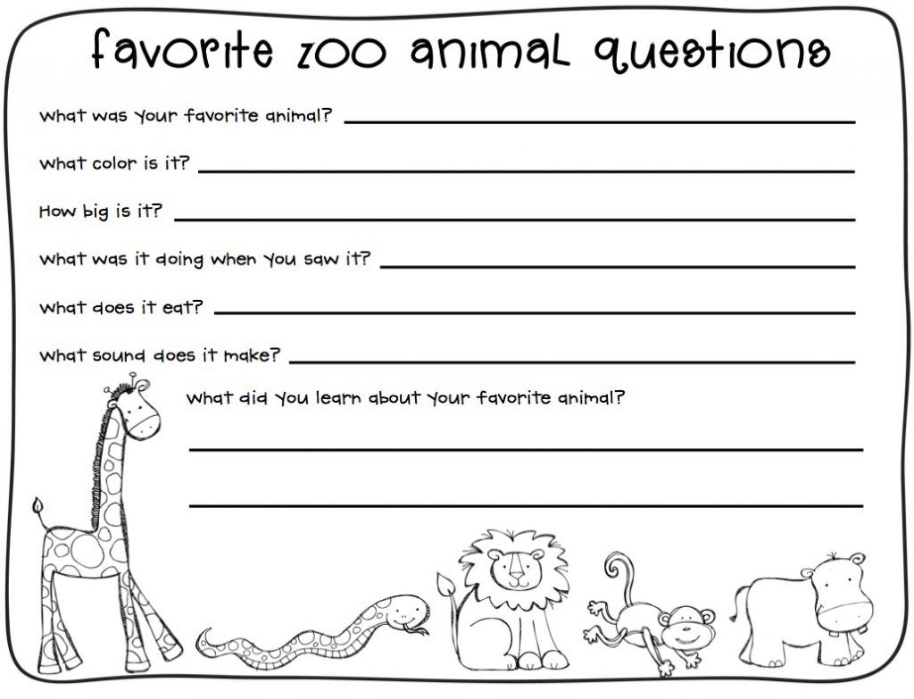 2nd Grade Writing Worksheets With Images Zoo Lessons Zoo