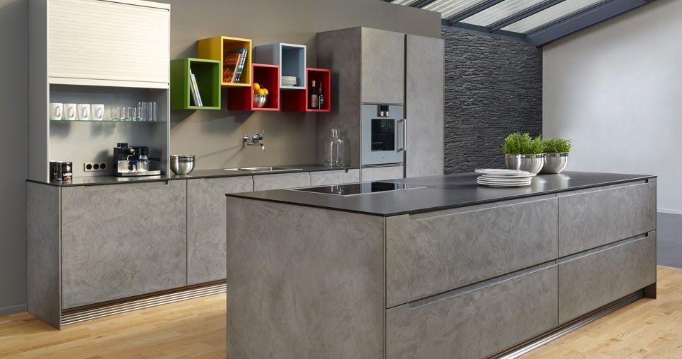 cuisine moderne grise avec lot fa ade effet b ton cir cette cuisine est fabriqu e par beeck. Black Bedroom Furniture Sets. Home Design Ideas