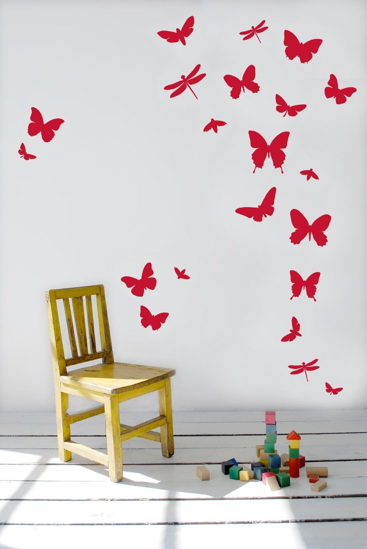 butterfly wall stickers | Butterfly Wall Stickers #butterflywallstickers  #walldecals #chair