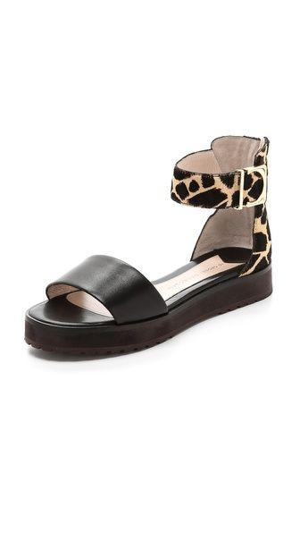 10 Crosby Derek Lam Dyls Flat Sandals Shopbop Ankle Strap Sandals Flat Me Too Shoes Sandals