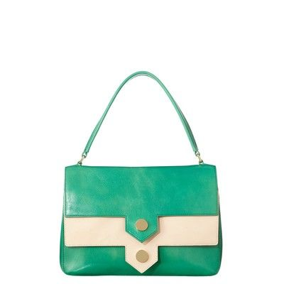 Pointed Pocket Leather Rosemary Bag