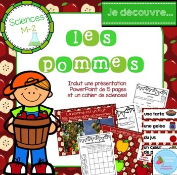 French Apple science unit/ La pomme sciences | Activité ...