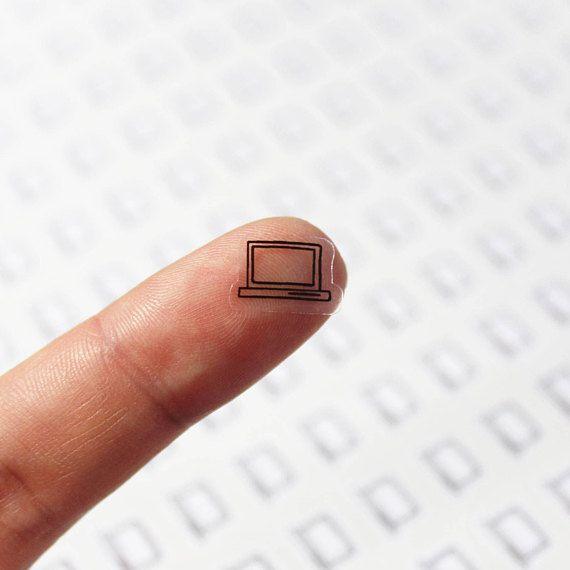 77pcs clear waterproof planner sticker clear laptop sticker