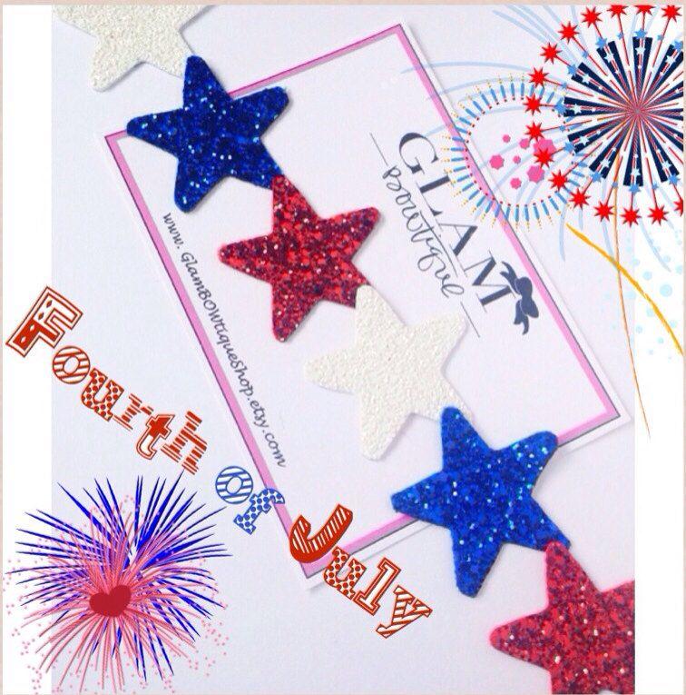 Fourth of July Stars Headband Shine like the by GlamBOWtiqueShop, $20.00