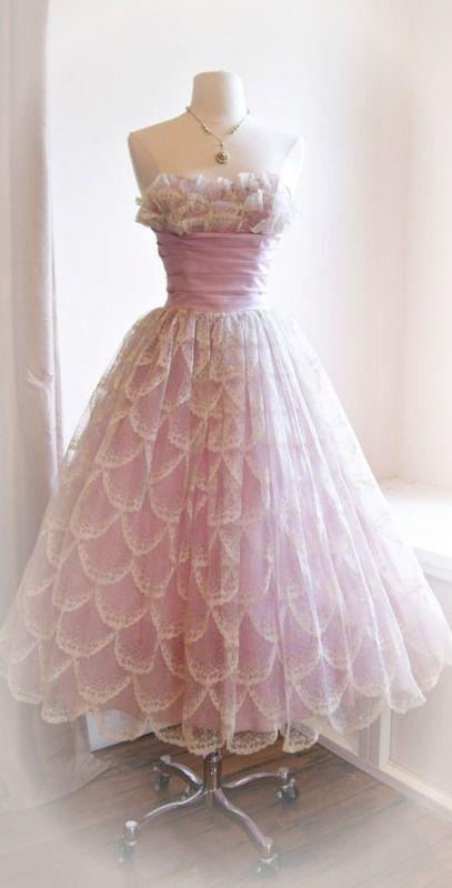 Vintage 50s prom dress ~ Debbie Orcutt ❤  55bad9c94