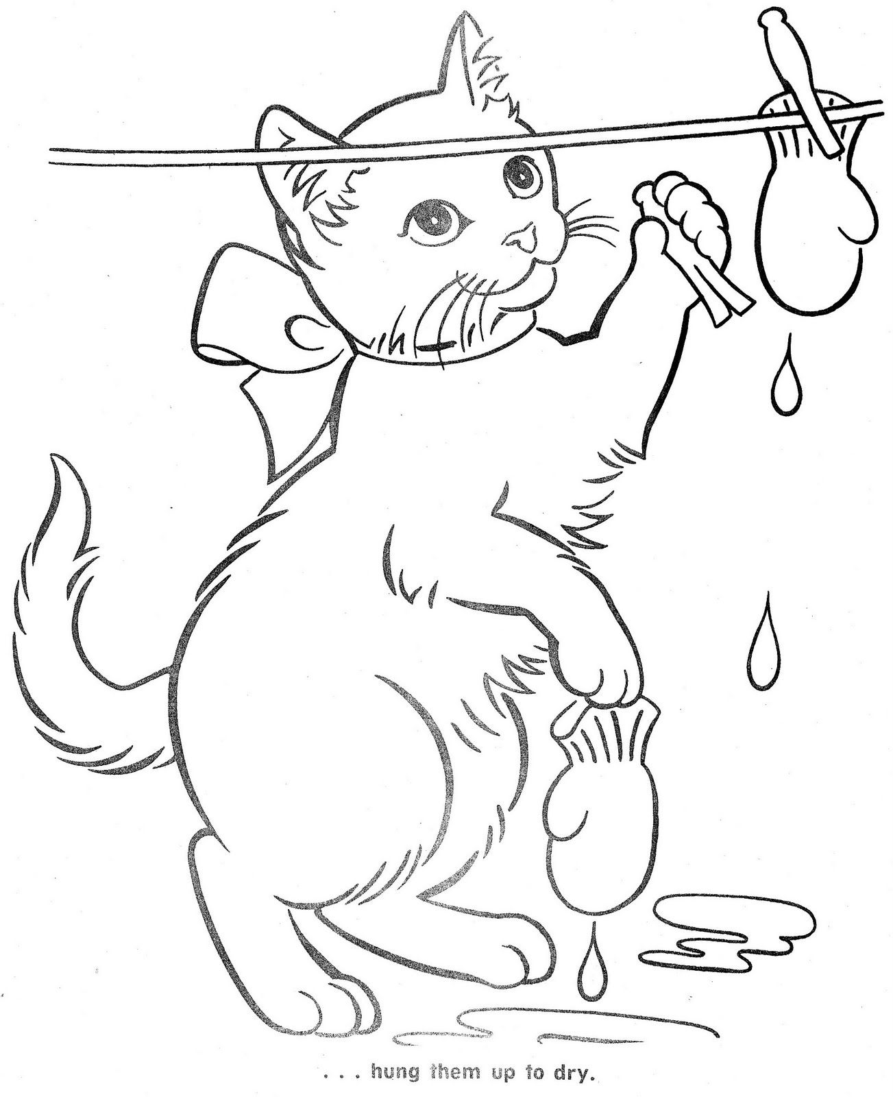 The Three Little Kittens Stitch Coloring Pages Cat Coloring