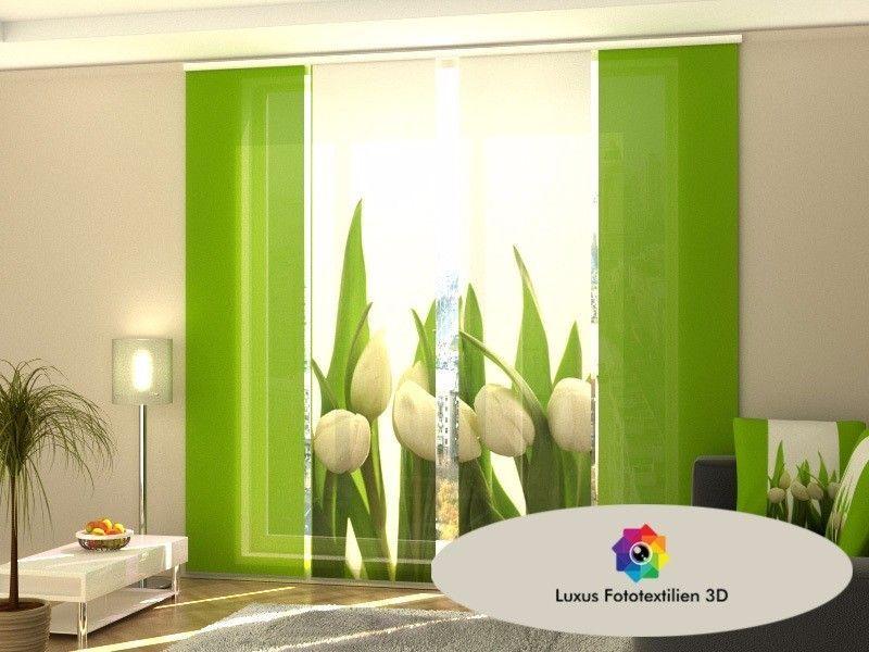 Schiebevorhang Schiebegardinen 3D Fotodruck auf Maß Fotogardinen Bambus