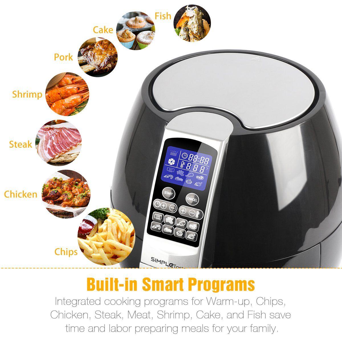 SimpleTaste 1400W Multifunction Electric Air Fryer with