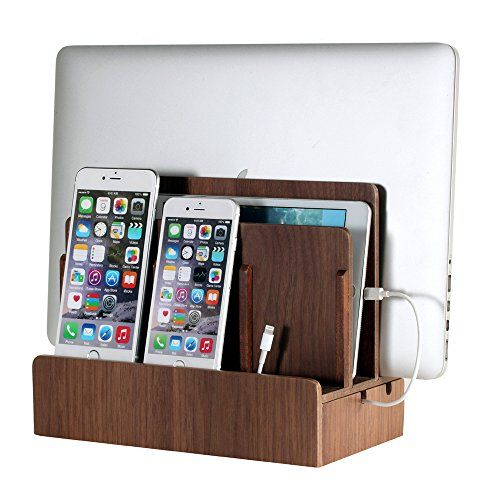 Minimize Cord Clutter With Our Bamboo Multi Device Charging Station Works Ipads Iphones Or Any Other Style Smartphone Tablet