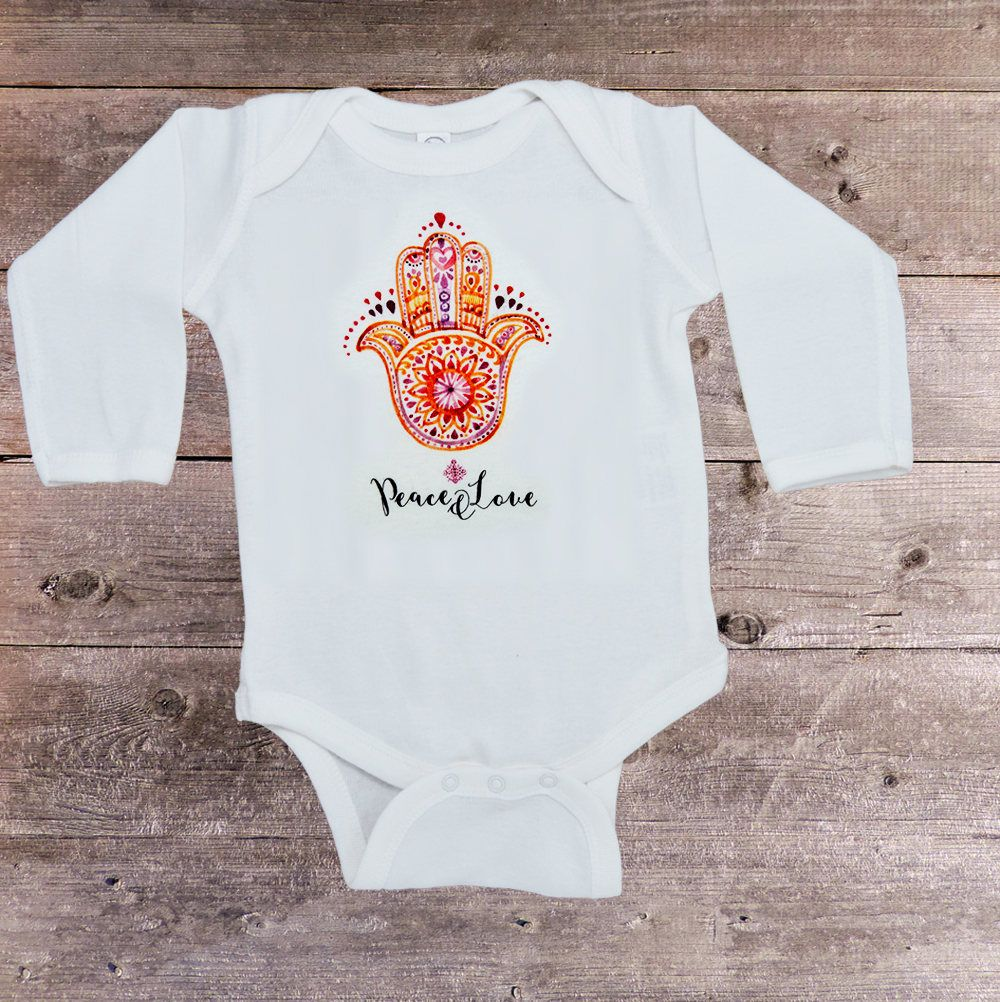 e8eae67d9 Hamsa Hand Onesie, Hippie Baby Onesie, Yoga Baby Clothes, Baby Shower Gift,  Baby Girl Gift, Baby Boy Gift, Cute Baby Outfits