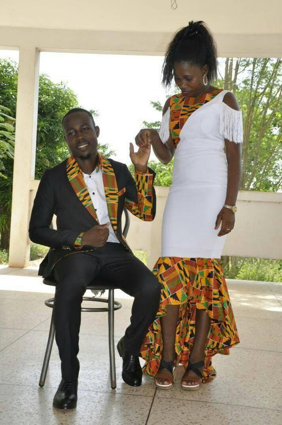 African Couple's outfit/ prom dress/ankara men outfit /wedding gown/wedding suit/african men's clothing/dashiki jacket/ankara women outfit #men#39;ssuits