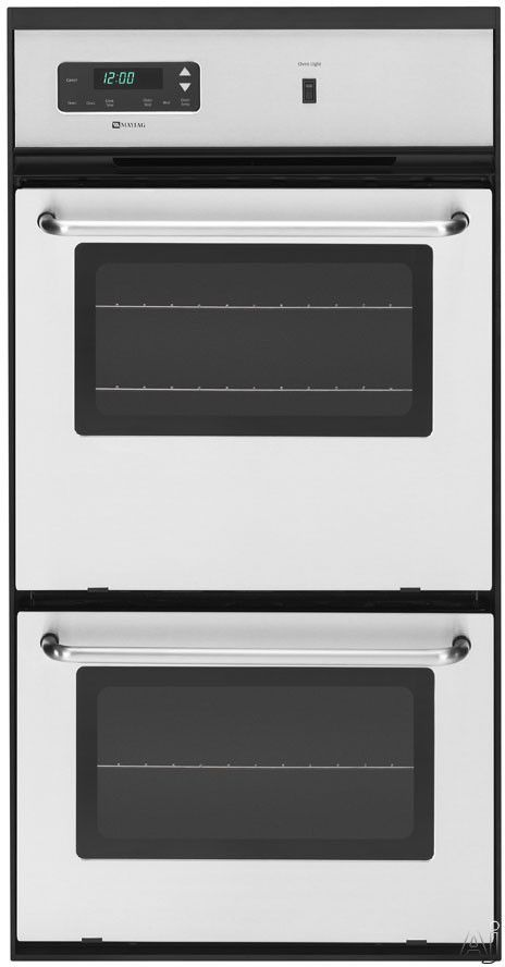 Maytag Cwg3600aas 24 Double Gas Wall Oven With 2 7 Cu Ft Upper