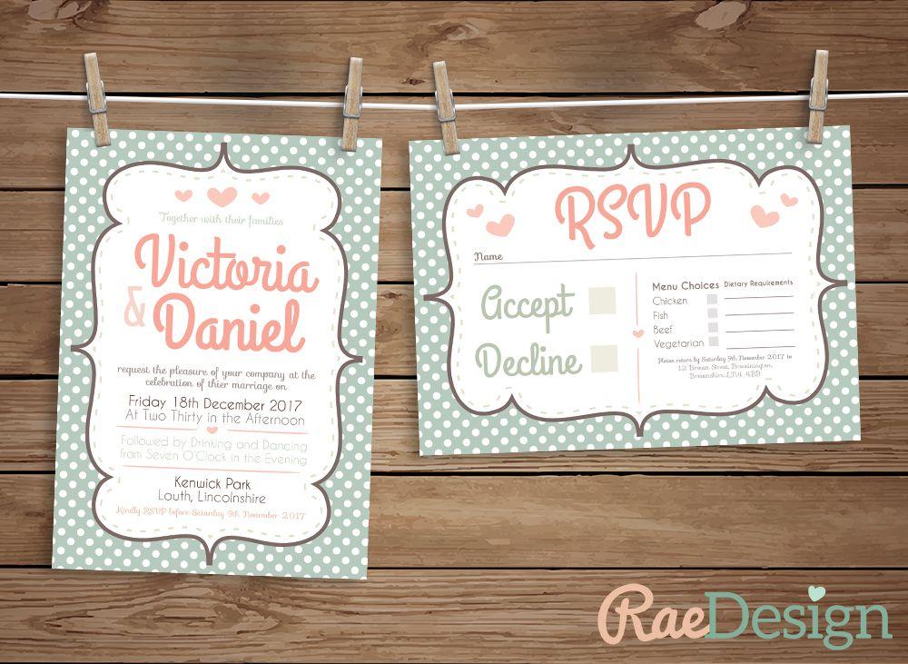 Vintage Polka Dot Wedding Invitation - www.facebook.com ...