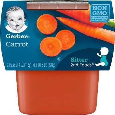 gerber 2nd foods carrot baby food 4oz 2ct