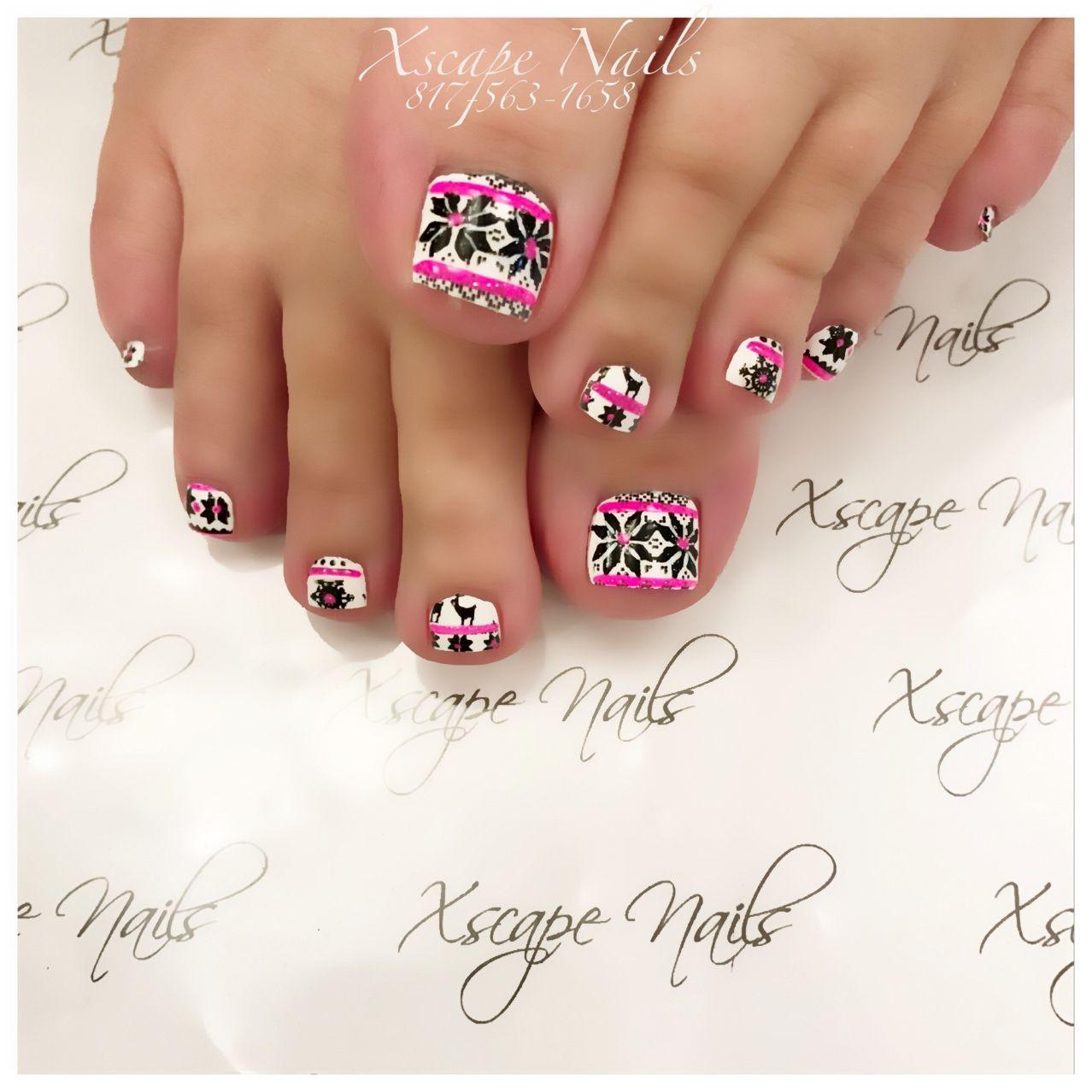 #holiday toe design