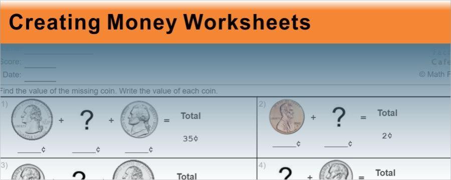 Creating Money Worksheets   4th grade math   Pinterest   Money ...