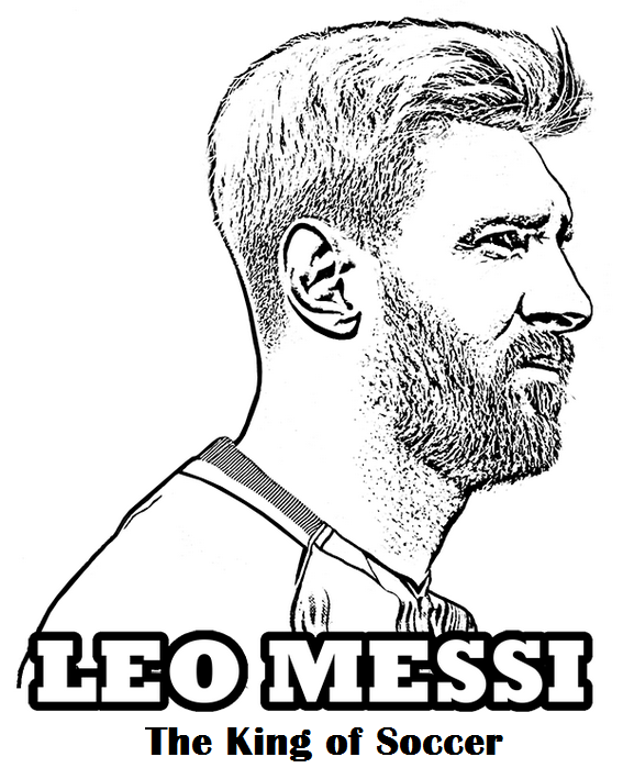 messi the king of football soccer coloring page | sport coloring ...