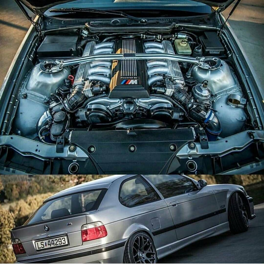 BMW e36 compact with V12 engine | cars | Bmw compact, Bmw e36