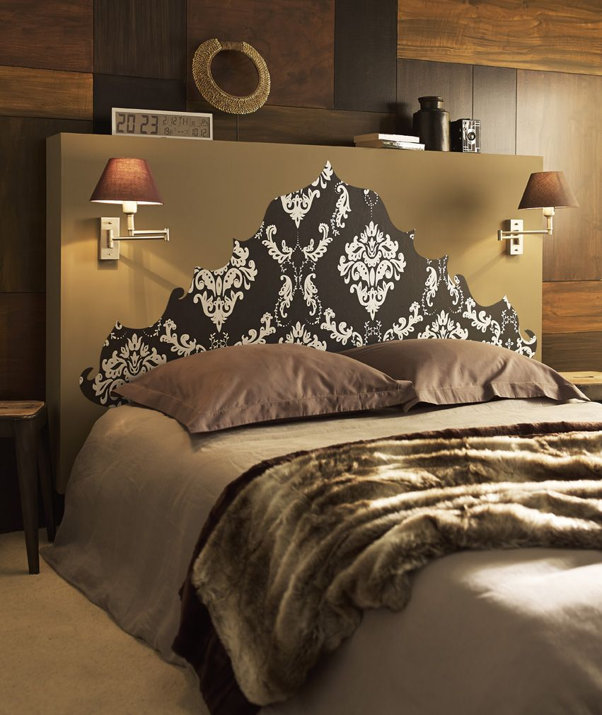 deco decoration tendance chambre papier peint tete. Black Bedroom Furniture Sets. Home Design Ideas