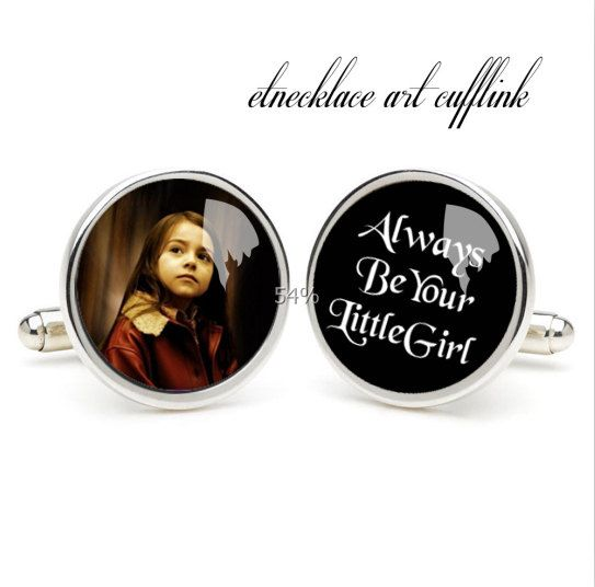 Always Be Your Litter Girl Cufflinks Wedding Gift By Etnecklace