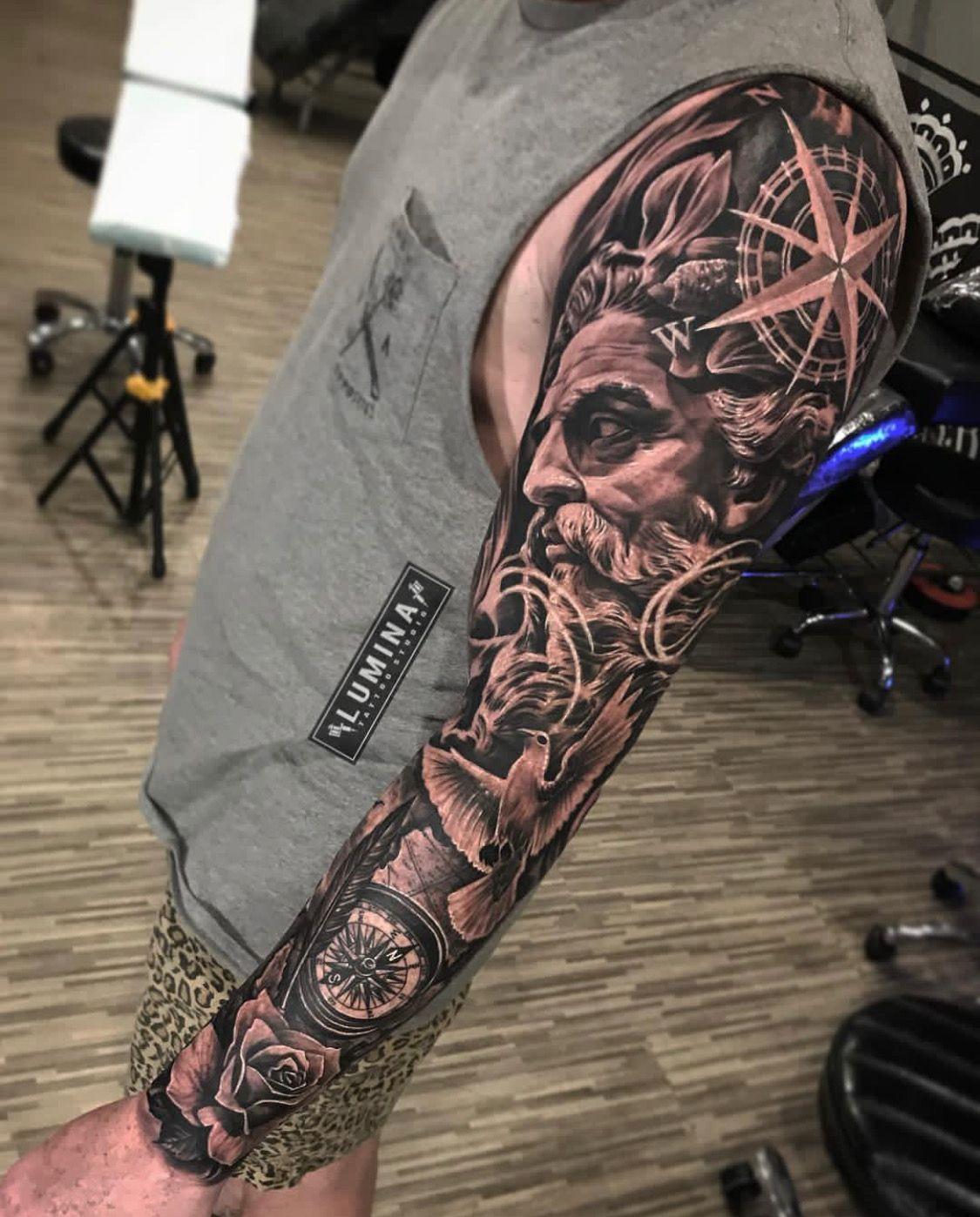 Next Bit Sleeve Tattoos Tattoo Sleeve Designs Greek Tattoos