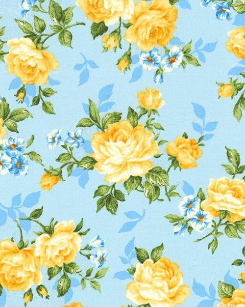 Victoria Gardens Sundrenched Rose Dawn Blue Flower Background Wallpaper Floral Wallpaper Flower Wallpaper