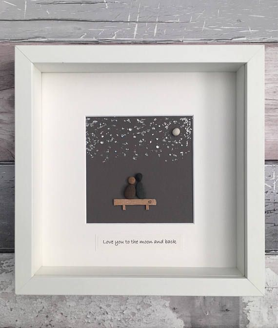 Handmade Cornish beach art Frame size 10x10 inch, glass frame Wall ...